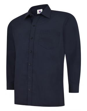 Mens Poplin Long Sleeve Shirt