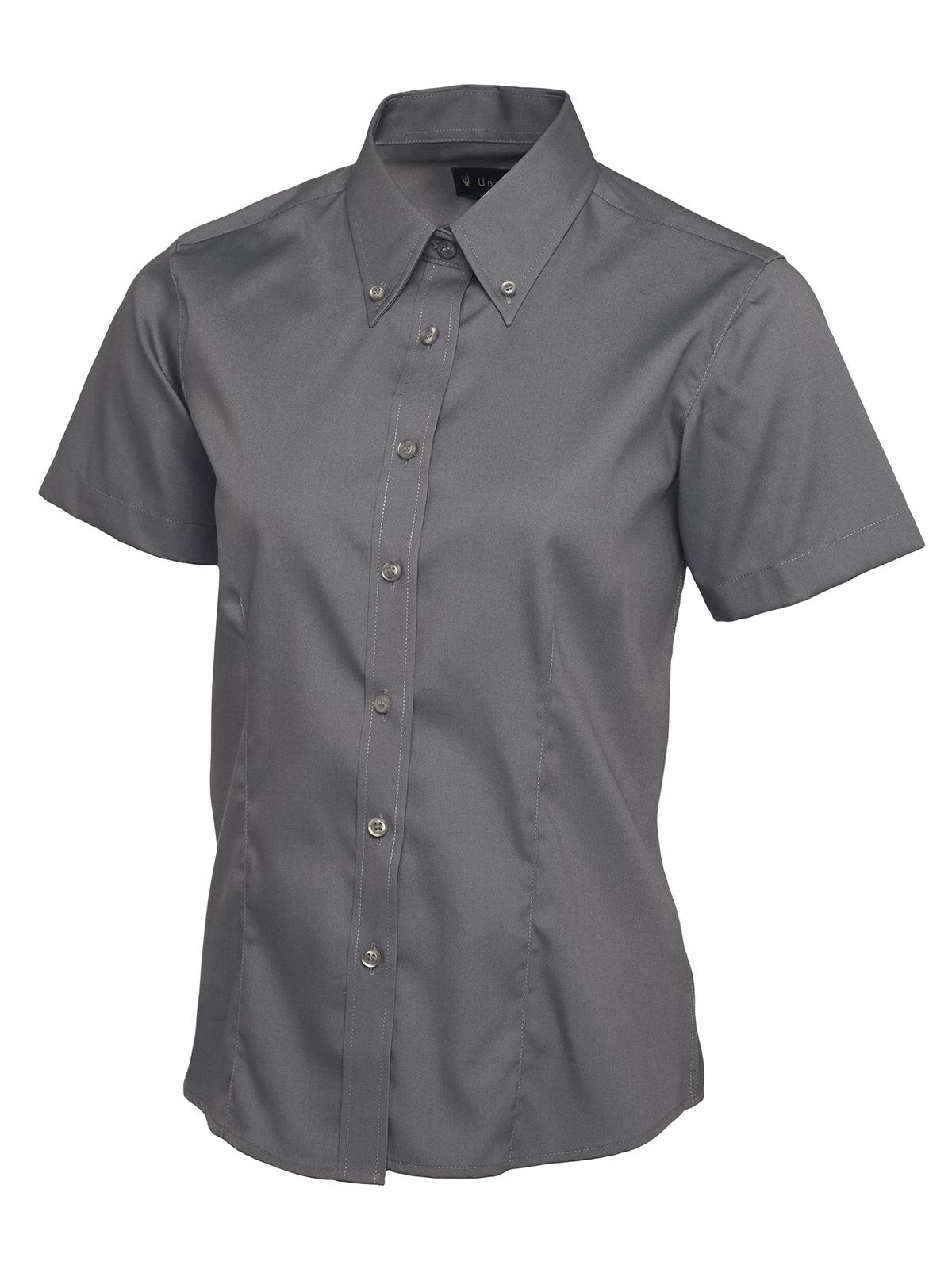 a9837c4576 E and E Workwear - Ladies Pinpoint Oxford Short Sleeve Shirt