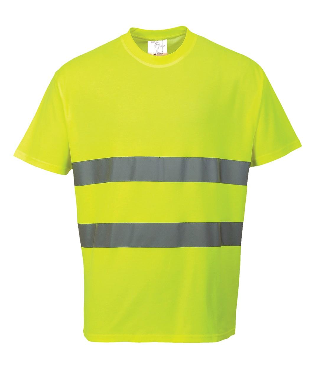 E And E Workwear Cotton Comfort T Shirt Hi Vis