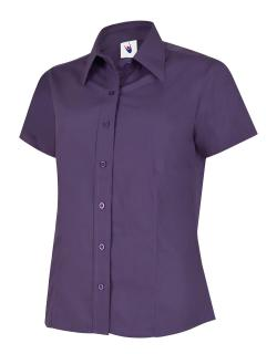 Ladies Poplin Short Sleeve Shirt