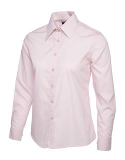 Ladies Poplin Long Sleeve Shirt