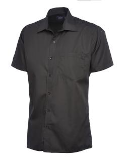 Mens Poplin Short Sleeve Shirt